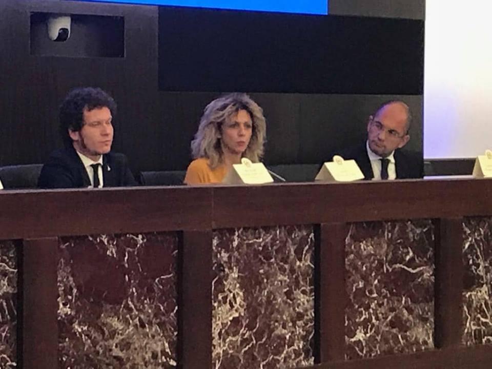 Matteo Bianchi e Barbara Lezzi nell'incontro di oggi a Roma